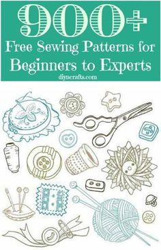 900 Sewing Patterns #diy #crafts #sewing