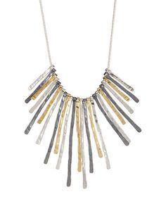 Another great find on #zulily! Tri-Tone Sterling Silver Burst Statement Necklace #zulilyfinds