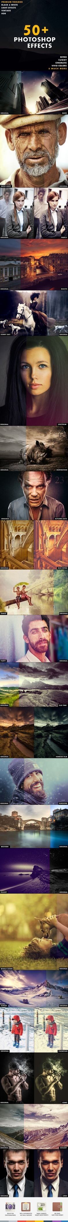 50+ Photoshop Effects — Photoshop ATN #photographer #new • Available here → https://graphicriver.net/item/50-photoshop-effects/10102349?ref=pxcr