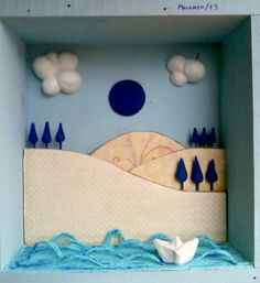 Paseo azul en barco de papel http://detrocitos.blogspot.com.es/?m=1