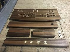Bespoke Control panel machine in the making. Laser cut veneer inlays.