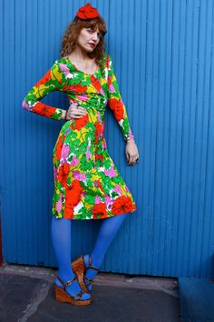 Vintage 1960s POPPIES & GRAPEVINES Sexy by moonchildvintage, $34.00