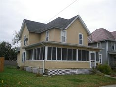 Short Sale listing in Janesville, Wisconsin Open House Weekend, Janesville Wisconsin, Shorts Sale, Wood Trim, Victorian Homes, Front Porch, Hardwood Floors, Shed, Outdoor Structures