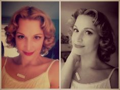 Using Rockin' Rollers for Vintage Hair Styles! This is always one of my favorite, simple vintage styles (demonstrated).