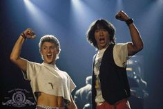 (From left) Alex Winter & Keanu Reeves in 'Bill & Ted's Excellent Adventure' - Metro-Goldwyn-Mayer