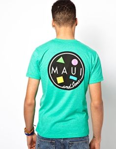 Maui And Sons T-Shirt Cookie Back Print Heather