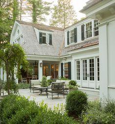 Dutch Colonial Exterior, Colonial House Exteriors, Traditional Exterior, Up House, Tiny House, Exterior Design, Future House, Beautiful Homes, House Design