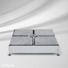 Platten zu Sockel M4, 16 Stück Beton, ca. 220 kg