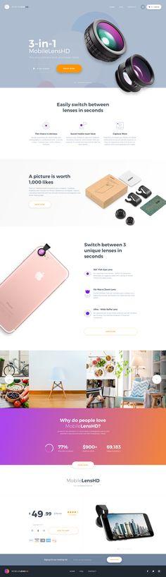MobileLensHD Landing Page (WIP) / Ionut Zamfir