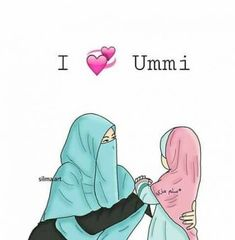 Love your mother Hijab Drawing, Doodle Characters, Islamic Cartoon, Anime Muslim, Hijab Cartoon, Islamic Quotes Wallpaper, Islamic Girl, Cute Girl Wallpaper, Editing Background