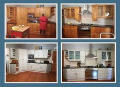 Corrin's kitchen in her new home needed a lift and lighteninig. Cabinets were painted with Sussex, sealed and waxed then buffed to a soft sheen.