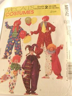 McCalls Pattern 6142 Costume childs clown 2 hat by ConnieJoe