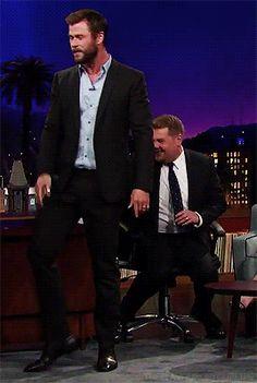 LOL. Chris Hemsworth, always fun.
