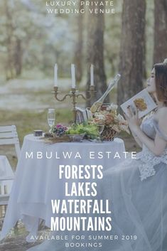 #Mbulwa #Estate offers 4 stunning #private wedding photography locations at 1 luxury venue.  #Forests, #lakes a #waterfall and mountain top views.  Create the perfect #wedding #memories at #mbulwa #estate