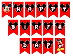 Ideas for birthday banner template mickey mouse Mickey Mouse Clubhouse Invitations, Mickey Mouse Banner, Mickey Mouse Gifts, Mickey Mouse Birthday Decorations, Mickey Mouse Party Supplies, Mickey 1st Birthdays, Mickey Mouse Balloons, Fiesta Mickey Mouse, Theme Mickey