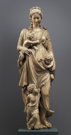 Alabaster Statue of Charity, Franco-Flemish, c. mid-16th century
