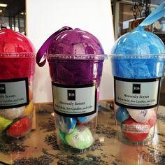 Milkshake Cup Bath Bomb Gifts. Get shower scrunchie, loofah, pouf with 9 bath bombs. $11.95