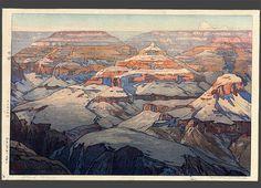 "Hiroshi Yoshida  ""Grand Canyon"" | 24 Japanese Woodblock Prints That Will Take Your Breath Away"