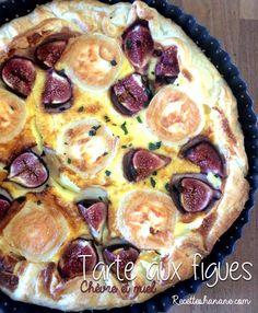 Tarte salée aux figues & au fromage de chèvre