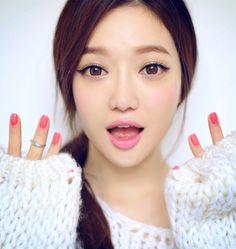 Korean Makeup, pastel, cute, kawaii, ulzzang