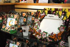 Beautiful picture frames at the Dollywood Emporium!