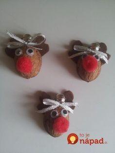Natural Christmas Ornaments, Christmas Crafts For Kids, Christmas Art, Christmas Gifts, Xmas, Deco Noel Nature, Diy And Crafts, Arts And Crafts, Mouse Crafts