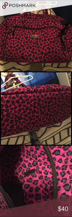 Vera bradley traveler and lunch pouch Very clean except two spills of baby oil very small inside but bag overall very clean and also being sold with a lunch bag vera bradley same color and design insulated Vera Bradley Bags Travel Bags