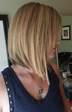 Images Bob Haircut Back View, Bob Haircut For Fine Hair, Haircuts Straight Hair, Long Hair Cuts, Lob Haircut, Thin Hair, Haircut Short, Short Inverted Bob Haircuts, Bob Hairstyles For Thick