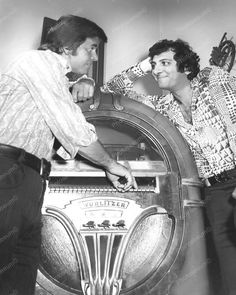 Wurlitzer Jukebox 750 Nader and Clark Vintage 8x10 Reprint Of Old Photo