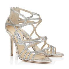 Jimmy Choo Sazerac Light Gold Glitter and Metallic Elaphe Sandals Edgy Shoes, On Shoes, Me Too Shoes, Shoe Boots, High Heels Stilettos, Stiletto Heels, Jimmy Choo Shoes, Fashion Heels, Women's Fashion