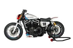 """""""Martini Motorcycle"""" Harley-Davidson Sportster by Shaw Speed and Custom Sportster Scrambler, Harley Scrambler, Harley Davidson Scrambler, Harley Davidson Museum, Bobber Motorcycle, Harley Davidson Motorcycles, Motorcycle Parts, Sportster 1200, Vintage Motorcycles"""