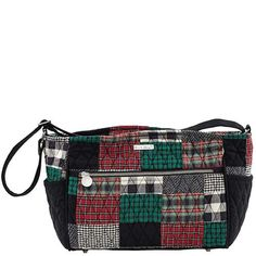 Ivy Claire - The Claire from our Ivy Collection comes in a sophisticated patchwork of  tartan red, ivy green and crisp black with a jet black microsuede trim, base and adjustable strap that allows this bag to be worn over the shoulder or crossbody. Made from 100% cotton with foam batting, all stress points are reinforced. Measuring 11.25x4.25x9.25