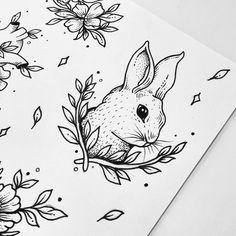 Ideas for design tattoo drawing ink sketch Sketches, Tattoos, Ink Art, Bunny Tattoos, Drawings, Nature Drawing, Animal Tattoo, Art, Tattoo Designs