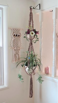 Good Screen Macrame Home Decor - Home Decor - 2 Tier Planter - Rustic Home Decor - Double Macrame Plant Hanger - Macrame Planter - Hanging Planter Thoughts If there is small room for the keeping flowerpots, hanging flowerpots really are a good Alternative Etsy Macrame, Macrame Owl, Macrame Plant Hanger Patterns, Macrame Patterns, Tiered Planter, 70s Home Decor, Support Mural, Small Apartment Decorating, Macrame Design