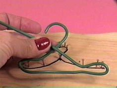 how to make doll clothes hangers.