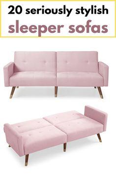 Pink velvet sleeper sofa