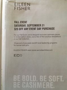 Eileen Fisher Fall event