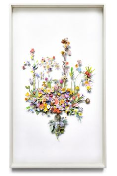 I want this so bad!!!! Flower construction #30 (w:70 h:120 d:6.5 cm)