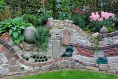 Maybe just do bird houses in the wall though. between my garden and the dogs part of the yard. steinmauer vorgarten - Google Search