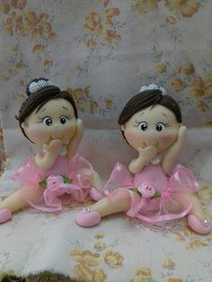 Bailarinas feitas em biscuit  11 cm de altura  Preço refere se a cada boneca