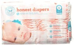 The Honest Company Size Newborn N Diapers Giraffe One Package of Honest Diapers
