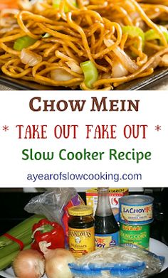CrockPot Chow Mein Recipe - A Year of Slow Cooking Chow Mein, Crock Pot Slow Cooker, Slow Cooker Recipes, Cooking Recipes, Crockpot Meals, Crock Pots, Cooking Tips, Crock Pot Freezer, Cooking Quotes