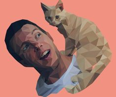 Cartoon Polygonal Illustration