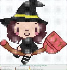 Halloween Beads, Halloween Crochet, Halloween Boo, Halloween Crafts, Fuse Beads, Perler Beads, Cross Stitch Embroidery, Cross Stitch Patterns, Snitches Get Stitches