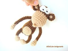 """Amigurumi Monkey Pattern Crochet Monkey Pattern Includes Photos, Instructions and Pattern. Written in English. *This listing is for a DIGITAL PATTERN that you can download once payment has cleared and not an actual finished item* Finished Monkey is approx 6.7"""" tall (17cm) standing, and"""