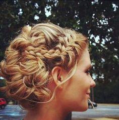 Braid & Pinned Bridal Hair - Frisuren How To - - Up Hairstyles, Pretty Hairstyles, Wedding Hairstyles, Wedding Updo, Elegant Wedding, Prom Updo, Elegant Updo, Braided Hairstyles, Bridal Bun
