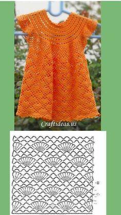 Hanga tunic pattern by Nikolett Corley Designs Crochet Toddler Dress, Black Crochet Dress, Baby Girl Crochet, Crochet Baby Clothes, Crochet Tunic Pattern, Crochet Blouse, Crochet Wedding, Crochet Fashion, Baby Knitting
