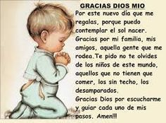 See related links to what you are looking for. Giving Thanks To God, Thank You God, Dear God, Spanish Prayers, Inspirational Prayers, Childhood Cancer Awareness, Morning Affirmations, Catholic Prayers, Morning Prayers