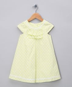 Girls yellow dress capped sleeves