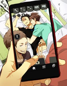 iwaizumi, oikawa, hanamaki, matsukawa, training camp, sleeping iwaoi…